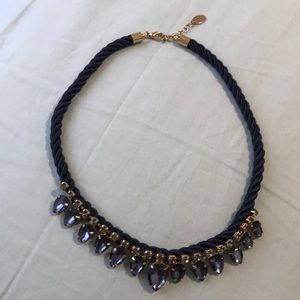 Zara Rhinestone Statement Necklace
